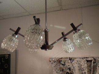 Hanglamp met 5 glazen kapjes