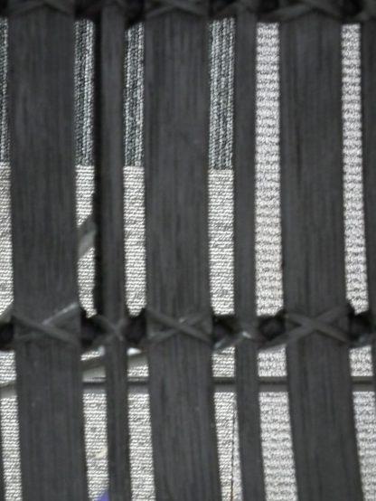 Barkruk zwart riet