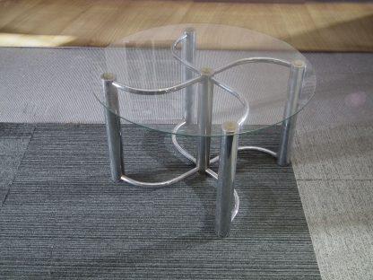 salontafel glas en metaal
