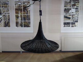 zwart riet hanglamp