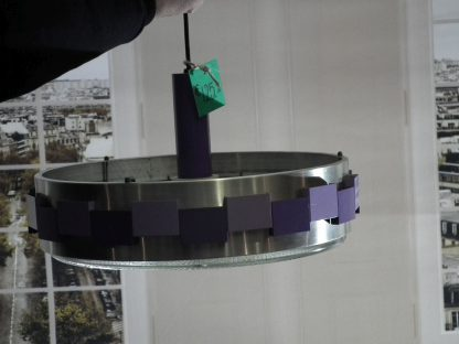 hanglamp retro paars